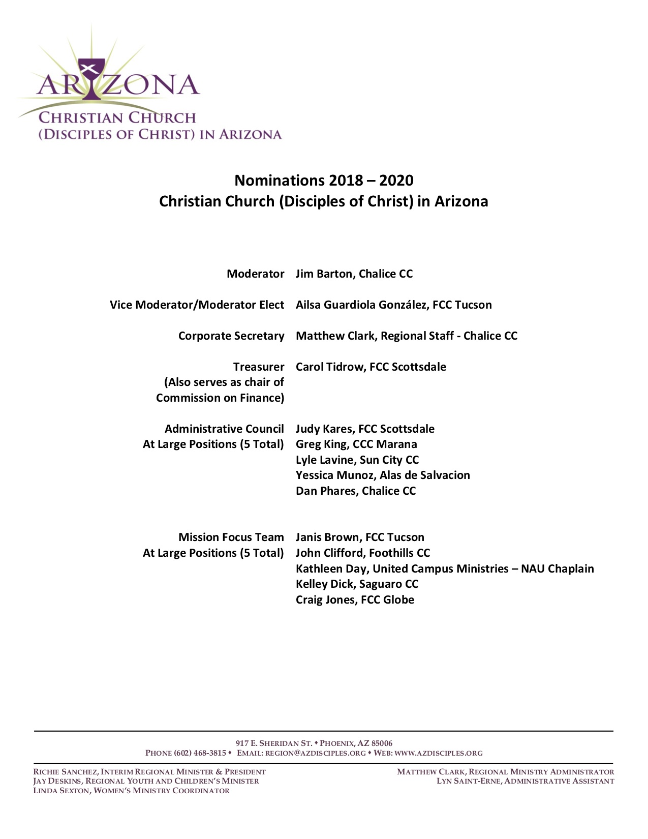 2018 Regional Assembly | Christian Church (Disciples of